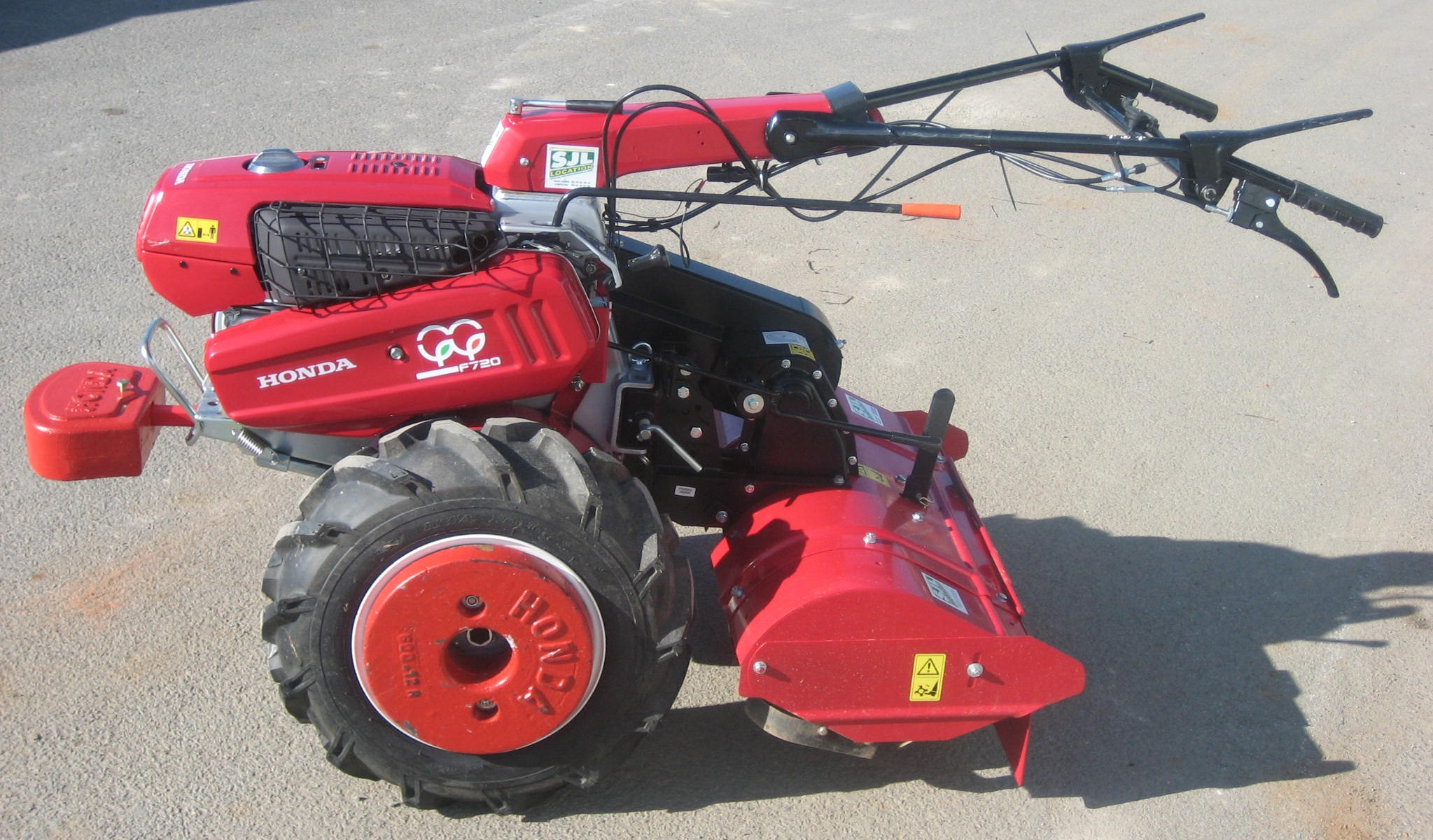 motoculteur   charrue    fraises  73 cm